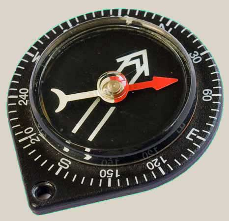 how to get a bearing on a compass