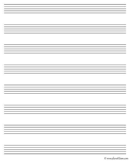 music notes worksheet blank